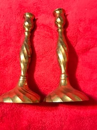 Vintage antique brass candle holders 43 km