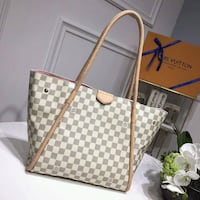 Damier Azur Louis Vuitton leather tote bag Brampton, L6Y 4S5