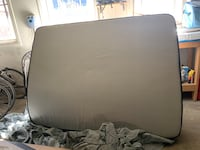 Queen bed and frame -- barely used!!
