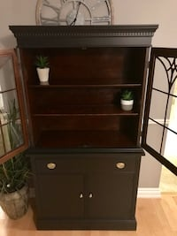 Mahogany antique buffet cabinet