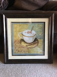 """19.5"""" x 19.5"""" coffee themed kitchen wall decor.  Excellent condition! San Marcos, 92078"""