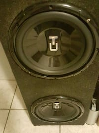 black and gray Kicker subwoofer Toronto, M6M 1B6