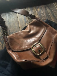 brown leather 2-way bag Glen Cove, 11542