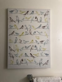 Printed stretched canvas bird graphic Tustin, 92780