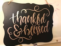 Thankful & blessed hanging wall decor
