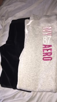 gray and black Pink by Victoria's Secret pants