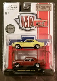 M2 MACHINES 1969 CAMARO SS AUTO-LIFT 2 PACK PREMIUM EDITION 1:64 SCALE