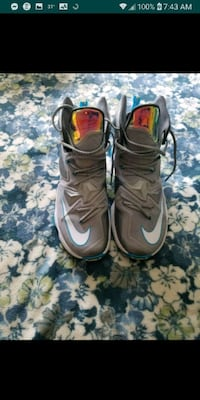 LeBron's basketball shoes size 13