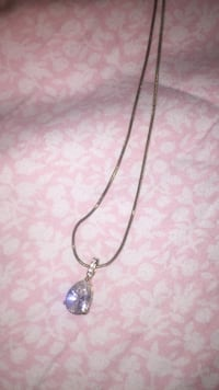 Diamond and gold plated necklace