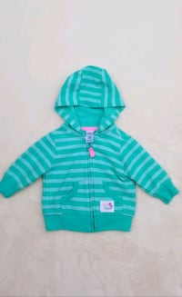 green and white striped zip-up hoodie San Leandro, 94578