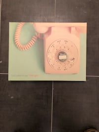 pink telephone-printed wall decor Toronto, M8Y