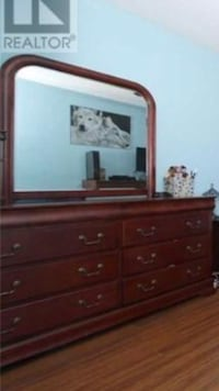 brown wooden dresser with mirror Toronto, M4C 1K3