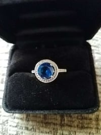 14k white gold plated blue zirconia swarovski elem New Port Richey, 34653
