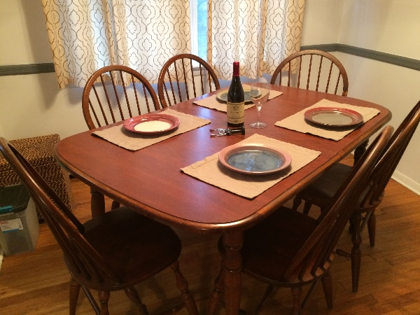 used kitchen dining room wood table w 6 chairs good condition to sit rh gb letgo com