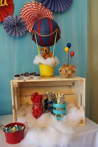12 hot air balloon centerpieces for baby shower, first birthday, party Miami, 33155