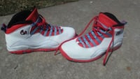 pair of white-and-red Nike basketball shoes Tulsa, 74106
