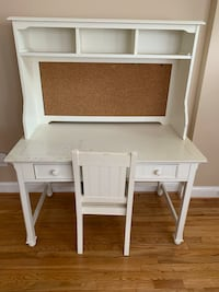 Solid wooden framed desk, hutch, and chair - negotiable Washington, 20011