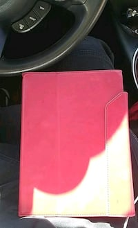 pink and white leather wallet 1198 mi