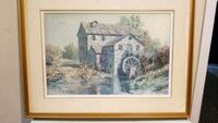 brown wooden framed painting of house Pickering, L1Y 1E3