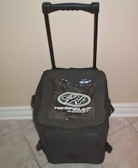 Wheeled Team Water Bottle Carrier with Zippered Puck Storage Area Attachment by Hespeler Hockey