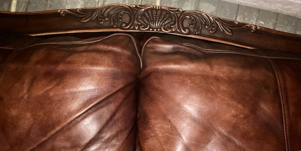REAL LEATHER SOFA AND LOVESEAT ASHLEY FURNITURE