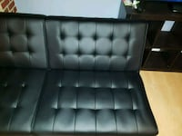 black leather tufted chaise lounge Orlando, 32808