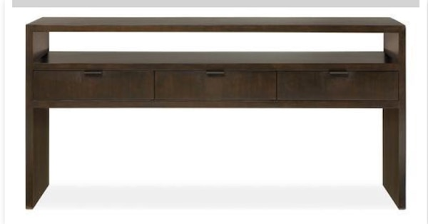 Used Solid Wood Tv Stand Console Table Room Board Also File
