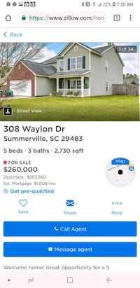 HOUSE For Sale 4+BR 3BA Summerville