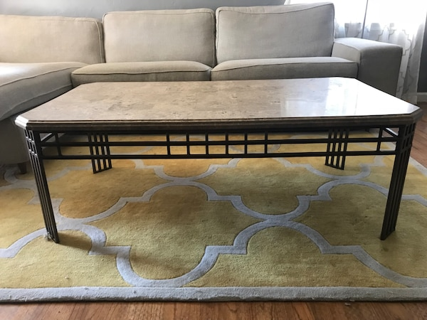 Stone Coffee Table And End Tables