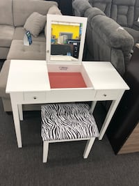 White Vanity with drawers and stool  Houston, 77092
