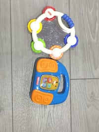 Fisher-price tambourine and radio