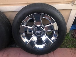 """20"""" OEM Chevy LTZ wheels and tires"""