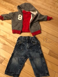 toddler's black and red overall pants 788 km