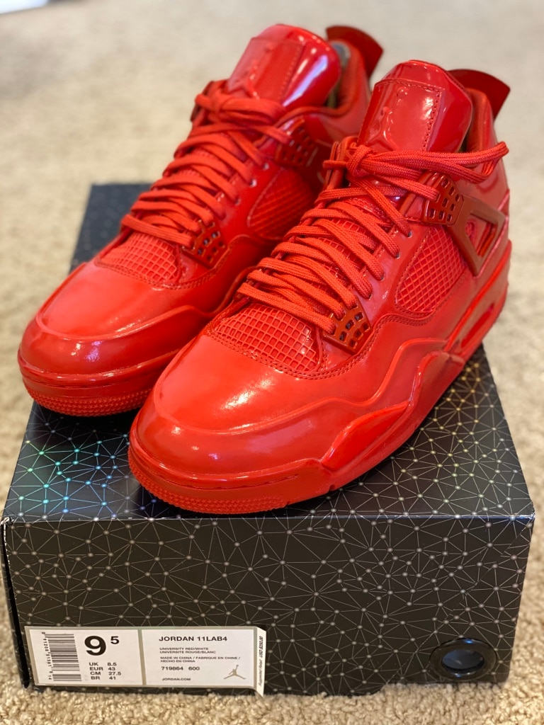 Photo Dead Stock Brand New Jordan 4 Retro 11Lab4 Red