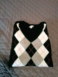 black and white argyle sweater 45 km