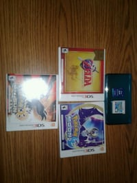 4Games plus a nice blue 3DS with a 4gb sd card  New Haven, 06513