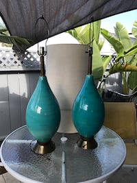 two green and blue table lamps Encinitas, 92024