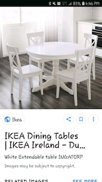 Ikea dining table and chairs Toronto, M6B 3J7