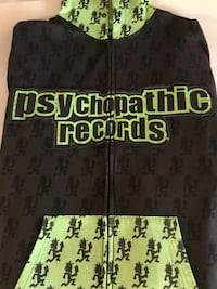 black and green Psychopathic records zip-up hoodie Louisville, 40258