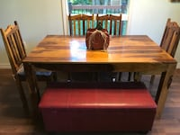 Rustic Dining table with 4 chairs. Original paint bought from Auction 6 months ago. Clarington, L0A 1E0