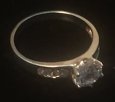 Sterling Silver CZ Channel Ring size 9