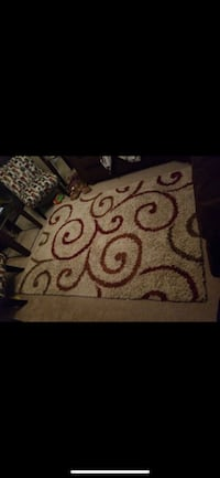 white and black floral area rug Woodbridge, 22192