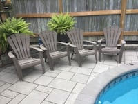 4 - Brown outdoor Patio Chairs Mississauga