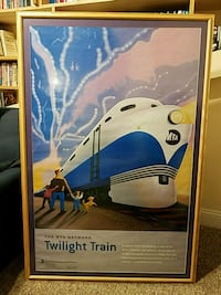 Train picture for kid's room 50x34 38 km