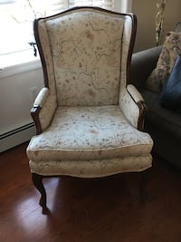 Wing Back Chair with Exposed Wood Frame Point Pleasant, 08742
