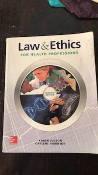 Law and Ethics for Health Professions textbook Liberty, 29657