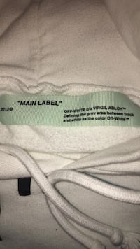 Off White For all 01 White Size M Hoodie Surrey, V3W 1N2