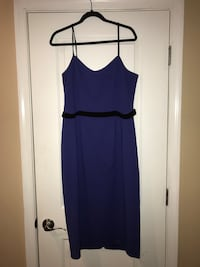 NWT Dress the Population Blue Thin Strapped Dress