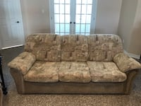 Couch and love seat. Can be sold separately.
