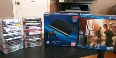 PlayStation 3 system with games Comes with 42 game